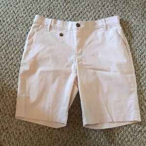 Lee comfort soft canvas shorts light pink size 12